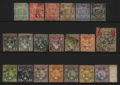 Zanzibar Collection 20 Early Stamps Used