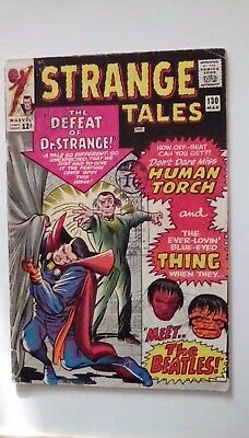 Strange Tales 130 Dated March 1965. Dr. Strange. Human Torch. Beatles Appearance