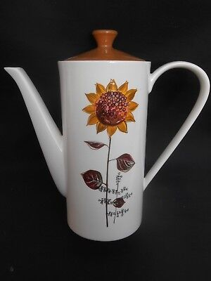 1960/70's Vintage Retro Lord Nelson Pottery ** SUNFLOWER ** Pattern Coffee Pot