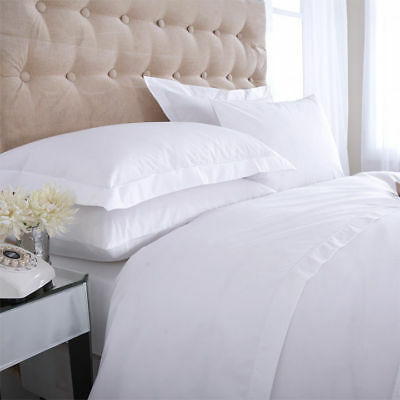 100% EGYPTIAN COTTON 400 THREAD COUNT DUVET QUILT COVER BEDDING WHITE or CREAM
