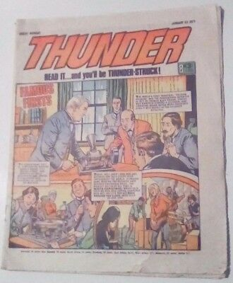 Thunder Dated 23 January 1971. Adam Eterno, Steel Commando. Very Good.