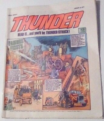 Thunder Dated 30 January 1971. Adam Eterno, Steel Commando. Very Good.