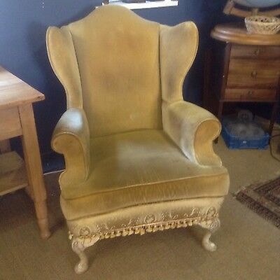 Stunning French  Salon Winged Armchair