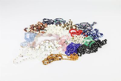 Brilliant Lot of 20 x Vintage GLASS BEAD Costume Necklaces Mixed Designs