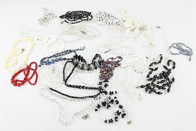 Beautiful Lot of 25 x Vintage GLASS BEAD Necklaces Mixed Designs&Styles