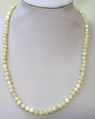 "Stunning Vintage Estate Mother Of Pearl Beaded 21"" Necklace!!!!! 8604N"