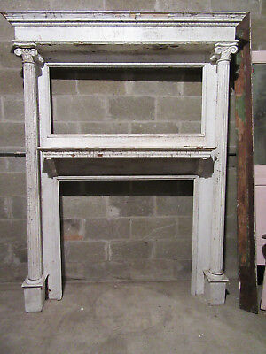 ~ Tall Antique Carved Oak Fireplace Mantel ~ 64 X 84~ Architectural Salvage ~