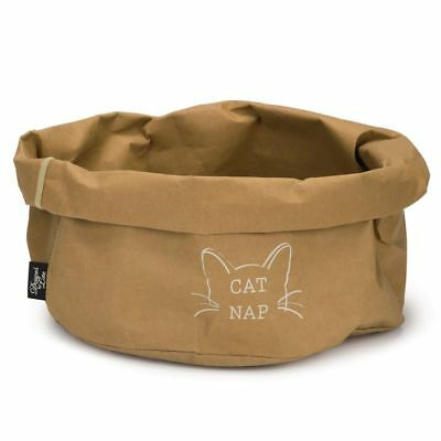 Designed by Lotte Cuccia Lettino Cesta Gatti Gatto Cat Nap Carta 40 cm Marrone#