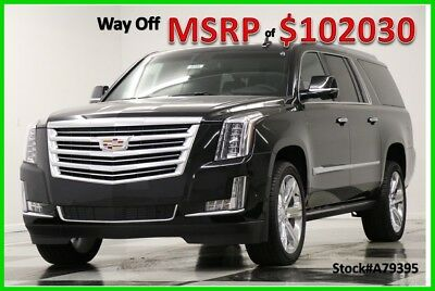 2017 Cadillac Escalade MSRP$102030 4WD Platinum 4 DVD Sunroof Black GPS 4X4 New AWD Heated Cooled Leather GPS Navigation 15 16 2016 17 22 In Rims 6.2L V8