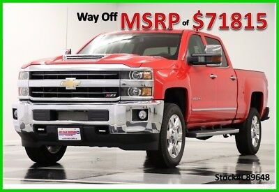 2018 Chevrolet Silverado 2500 Duramax Diesel Crew Cab Truck For Sale New 2500HD Duramax Heated Cooled Leather Navigation Camera 17 2017 18 Cab 6.6L