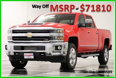 2018 Chevrolet Silverado 2500 HD MSRP$71810 4X4 LTZ DVD Diesel Red 4WD New 2500HD Duramax GPS Navigation Heated Cooled Leather 18 2018 17 Crew Cab V8