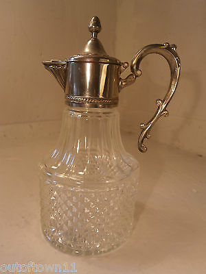 Silver Plate Glass Claret Jug    ref 394