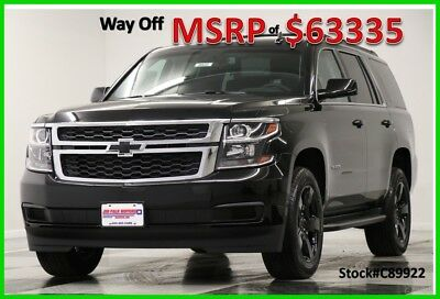 2018 Chevrolet Tahoe MSRP$63335 4X4 LT Midnight Edition DVD Sunroof 4WD New Navigation Heated  Leather Navigation 7 Passenger 17 2017 18 Blacked Out 5.3
