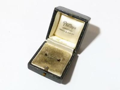 EMPTY Antique Vintage Jewellery Display Box for a Ring, Quite Worn a/f #M7