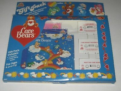 1983 Care Bears Gift Pack 3 Cassettes Tapes 3 Read Along Books Brand New