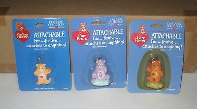 1984 Care Bears Cousins Lot of 3 Attachables Share Bear Proud Heart Cat Lovealot