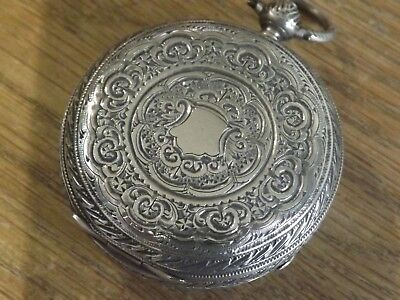 Quality  Antique Solid Silver Chunky Pocket Watch