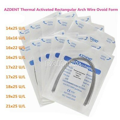 Dental Ortho Thermal Activated Niti Rectangular Arch Wire Ovoid Form All Sizes