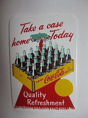 "1950's Coca Cola Small Bronze or Brass ""Take a case home Today"" 2.5 X 1.75"" Sign"