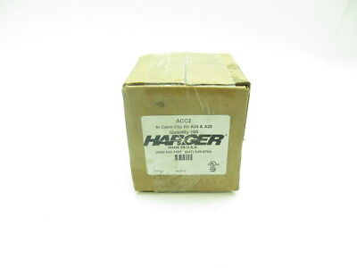 Box Of 100 New Harger Acc2 Aluminum Pre-Formed Cable Clip D599092