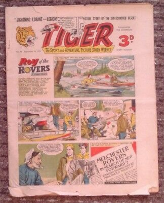 Tiger comic no.53 (September 10 1955). Roy of The Rovers. Fair only