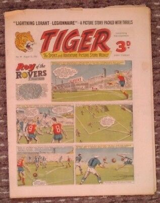 Tiger comic no.49 (August 13 1955). Roy of The Rovers. Good