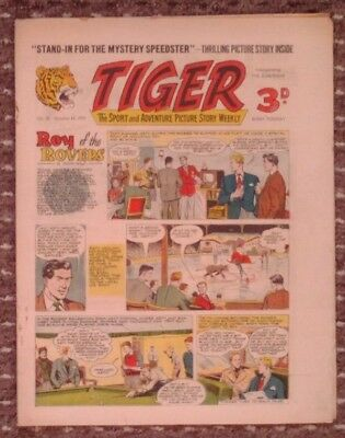 Tiger comic no.58 (October 15 1955). Roy of The Rovers. Very Good