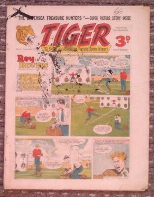 Tiger comic no.54 (September 17 1955). Roy of The Rovers. Good