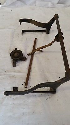 Antique Betsy Ross Treadle Sewing Machine Retracting Mechanism- late 1800s- RARE