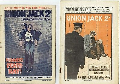 3 early issues of Union Jack (with supplements)