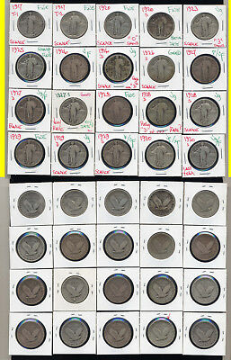 Lot Of 20  Standing Liberty Quarters- Includes Scarce Dates- 1927-S Included