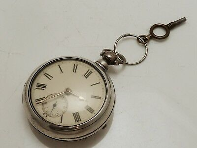 A Beautiful Rare Chester 1877 Solid Silver Pair Case Pocket Watch J Harris
