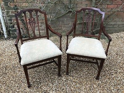 Pair Of Mahogany Carver Chairs Regency Style