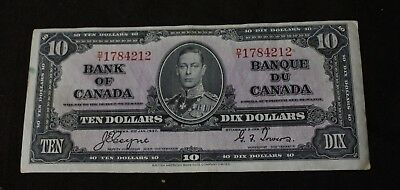 1937 $10 Bank of Canada D/T Coyne Towers BC-24c