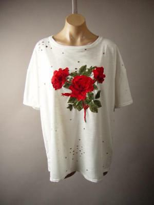 "3X M 2X Women/'s Patch T-Shirt /"" Love with Flowers /"" in S L 1X"
