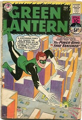 Green Lantern # 5 - Origin And 1St Appearance Of Hector Hammond - Gil Kane Art