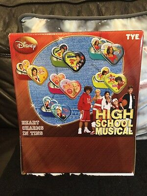 Disney High School Musical Heart Charms In Tins - 18 Party Bag Fillers