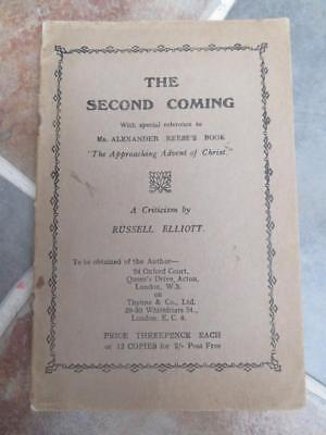 Russell Elliott - The Second Coming SCARCE c.1915 BOOKLET