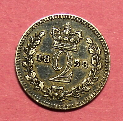 Great Britain :  Maundy Twopence 1838.