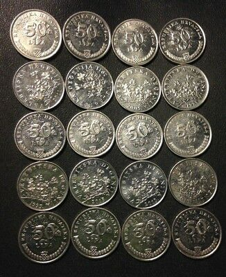 Old CROATIA Coin Lot - 20 High Quality Coins - Scarce Type - Lot #F21