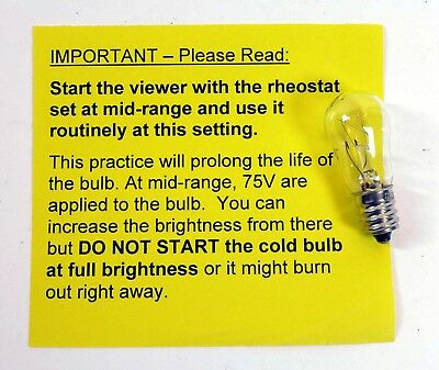 2 Bulbs 2 5 V Slide Stereo Viewer Light Bulb Magnifier