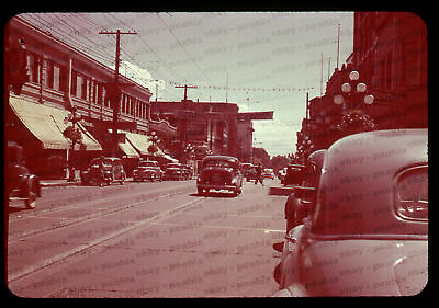 (002) ca 1940s/50s 35mm Slide Photo - VICTORIA, BC Street Scene