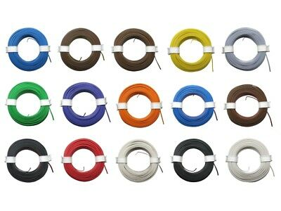 10m Ring Twin Stranded Wire 2x 0,08mm ² Braid Two-Wire Doppellitze Many Colors