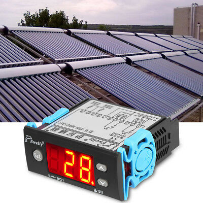 EW-801 Digital Solar Water Heater Temperature Controller Thermostat w/Sensor el