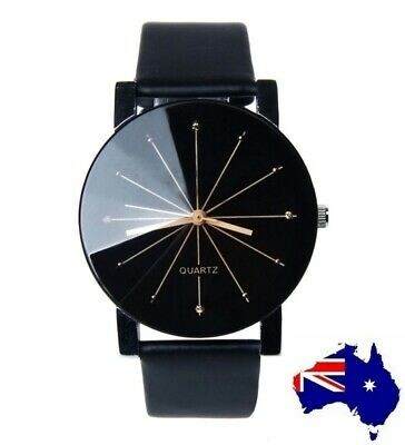 Silver Womens Ladies Fashion Watch with faceted glass Black White Red Turquoise