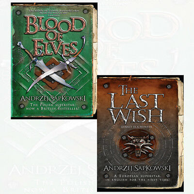 Witcher Book Series Andrzej Sapkowski Collection 2 Books Set Blood of Elves NEW