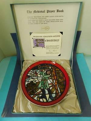 Poole Pottery 1972 Medieval Calendar Wall Plate Plaque FEBRUARY #819 of 1000