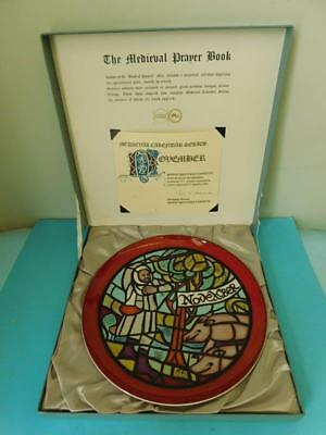 Poole Pottery 1975 Medieval Calendar Wall Plate Plaque NOVEMBER #701 of 1000