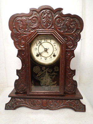 1885 'UNCAS' Model Clock By Waterbury Clock Company-- 1/2 Size Kitchen Clock
