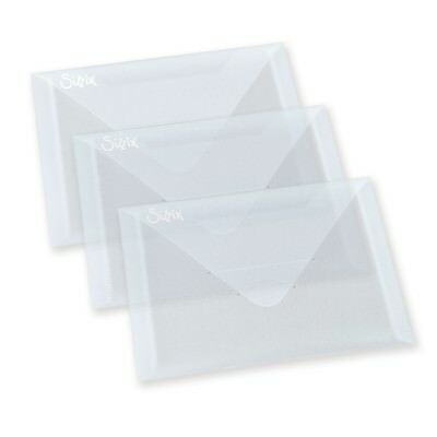 "SIZZIX Accessory - Plastic Envelopes, 5"" x 6 7/8"", 3er Pack - 654452"